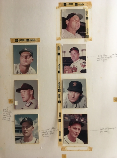 1963 baseball card art
