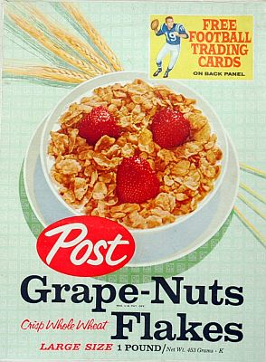 Grape Nuts Flakes 16 oz.  front panel